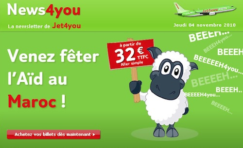 Jet4you et son mouton de l'Aïd